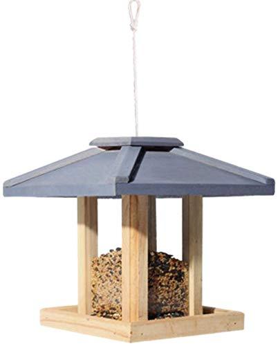 Bird Feeder Bird Table Freistehendes hängende Dekoration for Außenpatio Wetter Country House Design for eine einfache Reinigung Refills Große Premier Bird Feeder Traditionelle Holz ccgdgft