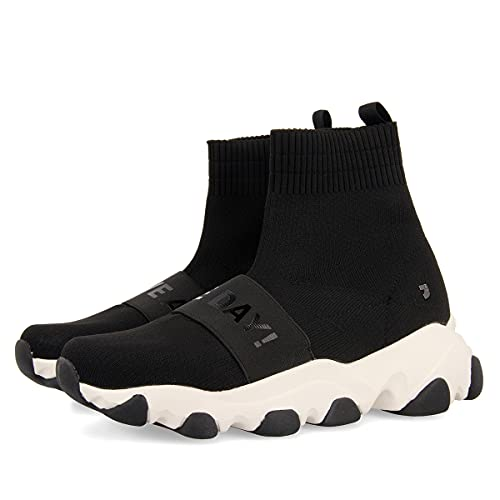 Sneakers Estilo calcetín con Suela Chunky Negros para Mujer SIBAY