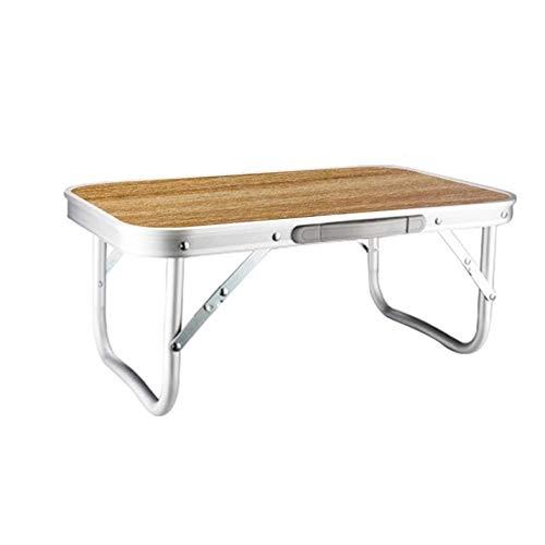 ロールテーブル キャンプ アウトドア ミニテーブル 木目柄調 超軽量 アルミ製 折りたたみ式 コンパクト 机