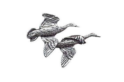 Bisley Peltro Pin Coppia di Anatre Volanti #5