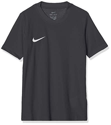 Nike SS YTH Park Vi JSY T-Shirt, Niños, Negro (Black Mat/White), S