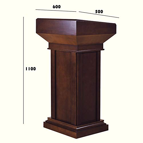 WiaLx Atriles para presentaciones 110cm De Madera Sólida Podio con Dos Gabinete De Almacenamiento Gran Iglesia for El Discurso Escuela Atril (Color : Red, Size : 110x50x60cm)