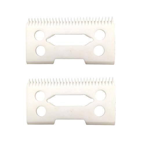 professional ceramic clipper blades 2 hole2-Hole Clipper ceramic Blade cutter,ceramic clipper replacement blades for Wahl Senior cordless Clipper, Wahl Magic clip, wahl sterling senior (2pcs)