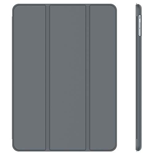 JETech Hülle Kompatibel iPad Air (2013 Modell), Schutzhülle mit Ständer Funktion & Auto Schlaf/Wachen (Dunkel Grau)