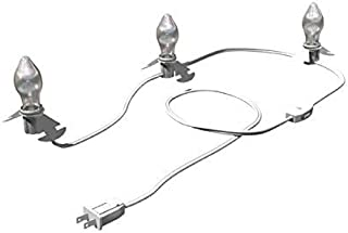 Clear 3-Bulb C7 Replacement Lights with White Wire Cord