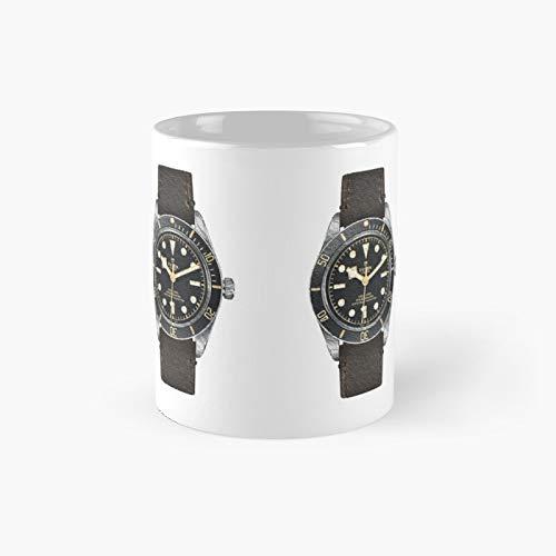 Tudor Black Bay Fifty-Eight taza clásica | Mejor regalo divertido tazas de café 12 oz