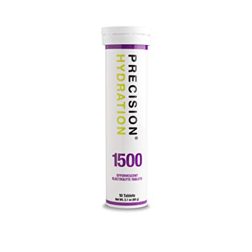 Precision Hydration Lite Electrolyte Drink - Multi Strength Effervescent Electrolyte Tablets (1 Tube, 1500mg/L - Purple Tube)