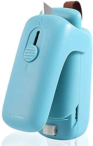 Mini Sac Scellant, poche chaleur vide compacteurs, Sac Scellant thermoscellage, 2 en 1 Thermoscelleuse et Cutter Snack Sac, scellant pour Saving gel de stockage des aliments