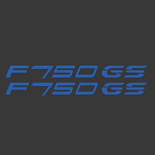 JIUZHEBA Motocicleta para BMW F750GS F750 F 750 GS Cuerpo Shell Ruedas Llantas Carenado Casco Tanque Pad Calcomanía ADV Adventure 2018 2019 (Color: Azul)