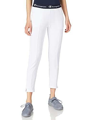 Champion Seasonal AC Slim Crop Pants Pantaloni, Bianco, XS Donna