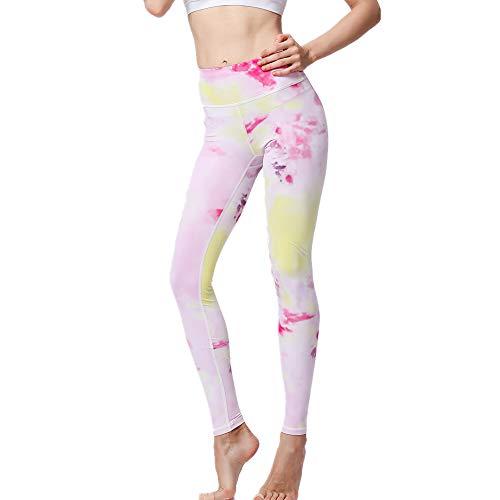 NOBRAND Bedruckte Leggings für Sport, Fitness, Yoga, schnelltrocknend Gr. S, rose