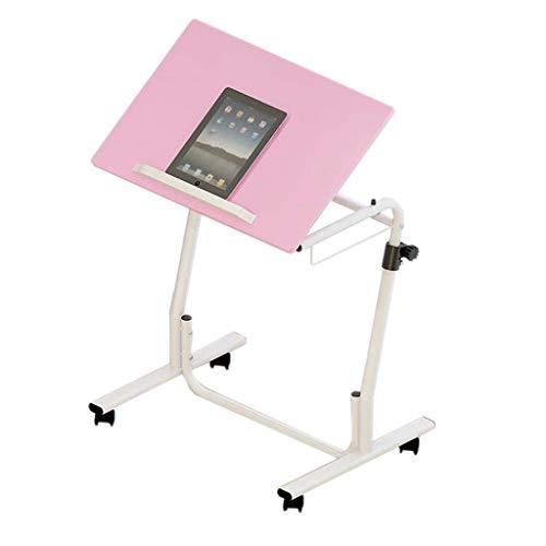 WXJWPZ Mesa plegable para ordenador portátil, mesa de noche, color rosa, se puede elevar y bajar, antideslizante, sofá o hogar, mesa pequeña (tamaño: 60 x 40 cm)