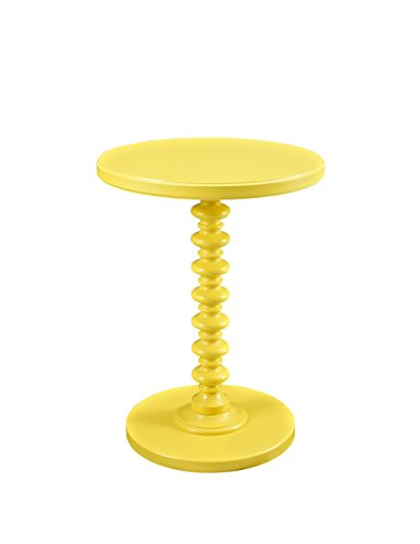 Powell Furniture Round Spindle Table, Yellow