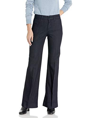 NYDJ Teresa Trouser Jeans in Premium Denim, Dark Enzyme, 4