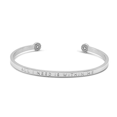 Simple Pledge - All I Need is Within Me – Blind - Armreif in Silber mit Gravur für Damen