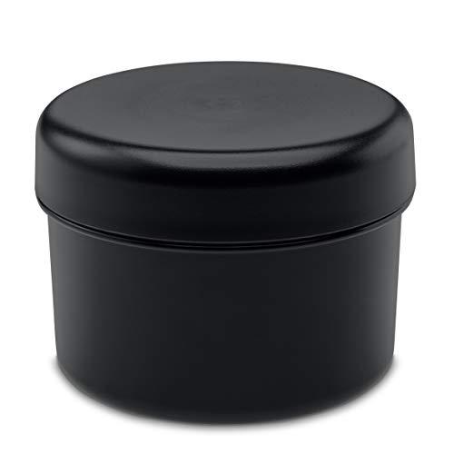 Koziol Rio Vorratsdose mit Deckel, Aufbewahrungsdose, Frischhaltedose, Kunststoff, Cosmos Black, 8 cm, 3045526