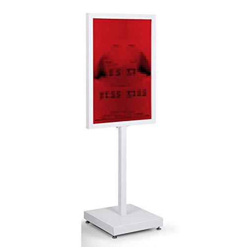 HOUSEHOLD Soporte de Exhibición de Letreros de Doble Cara para Colocar en El Piso, Soporte para Carteles de Alta Resistencia con Ruedas Universales, Estante de Exhibición de Tablero Vertical KT