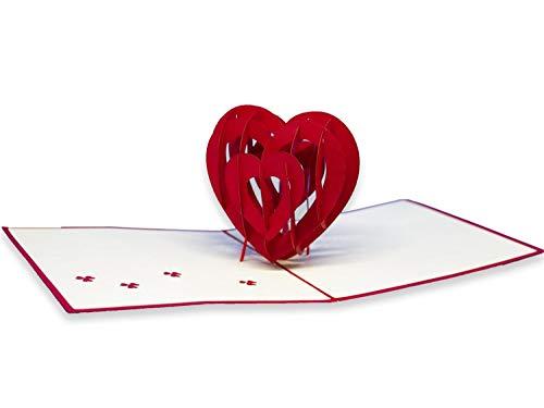 Origami RF 027.507–Tarjetas Origami Corazón