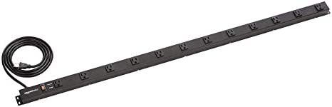 Amazon Basics Heavy Duty Metal Surge Protector Power Strip with Mounting Brackets 12 Outlet product image