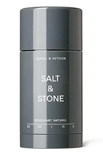 Salt & Stone Deodorant (SANTAL & VETIVER, Nº 2) Unisex Natural, Fresh and Effective Deodorant with 48 Hour Protection For Sensitive Skin - Aluminum, Baking Soda, & Cruelty Free