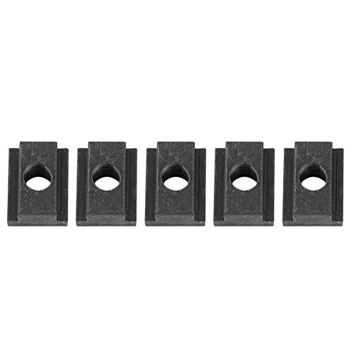 Lsaardth T-Slot Nuts-Paquete de 5 Tuercas de Hierro con Ranura en T - Tuerca con Ranura en T Ideal para rieles de Plataforma de Caja de camión Toyota