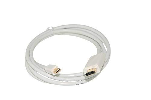 Alda PQ Mini Display Port naar HDMI Adapter Kabel MiniDP naar HDMI inclusief audio compatibel voor Macbook (Pro), Notebooks, Ultrabooks, Tablets in wit
