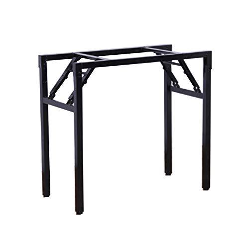 Soporte de mesa de metal plegable portátil, soporte de hierro con patas de mesa plegado a la mitad, soporte de patas de mesa con resorte, soporte de escritorio, soporte de escritorio para computador
