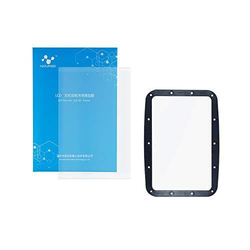 NOVA3D FEP Film Set for UV LCD DLP 3D Printer Resin Vat, High Transmittance for NOVA Standard & Jewelry UV Resin, 180 x 126mm, FEP Sheet Thickness 0.15mm, 1PCS