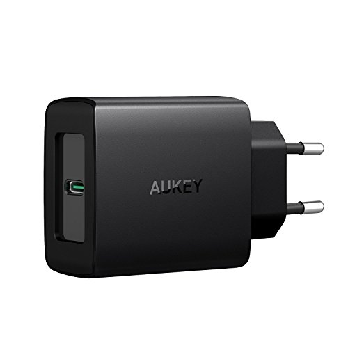 AUKEY USB C Ladegerät mit Power Delivery 3.0 27W USB Netzteil für Samsung Galaxy S8 / S8+ / Note 8, Nexus 5X / 6P, Google Pixel XL, LG, MacBook/Pro, iPhone XS/XS Max/XR, Nintendo Switch usw.