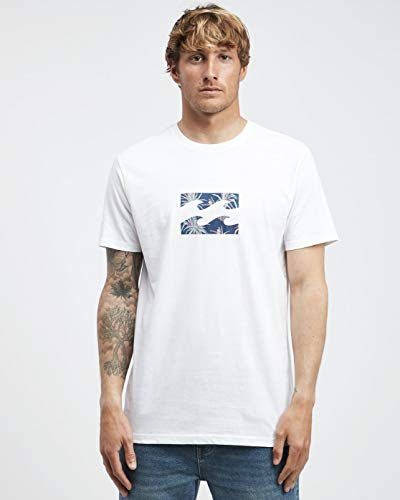 BILLABONG Team Wave tee SS T-Shirt, Hombre, White, L
