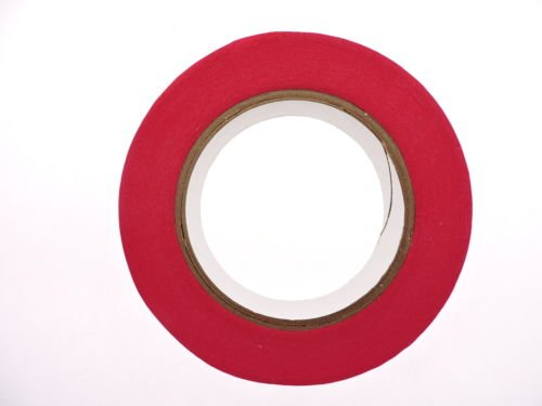"""3pk 1"""" x 60 yd Red Painters Tape PROFESSIONAL Grade Fine Masking Pin Stripping Edge Trim Multi Surface Easy Removal (24MM .94 in) Photo #2"""