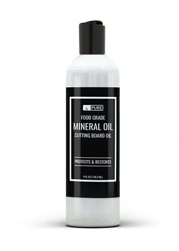 Mineral Oil (4 oz) Food Safe, For Cutting Boards, Butcher Blocks, Counter tops, Wood Utensils