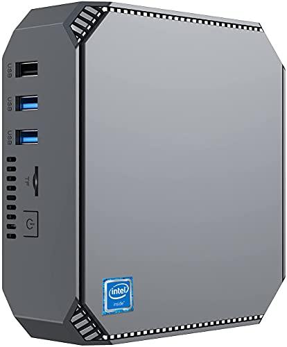 NiPoGi Mini PC,Windows 10 Pro 8GB DDR3 256GB SSD,Procesador Intel Celeron J3455 Mini Ordenadores de sobremesa de 4 núcleos, Pantalla Dual 4K HD, WiFi de Banda Dual 2.4G / 5G,Gigabit Ethernet, BT 4.2…