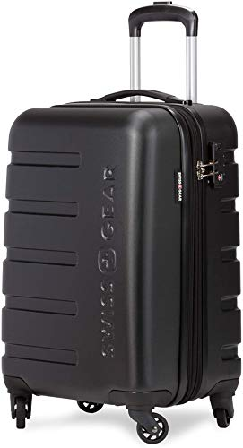 SWISSGEAR 7366 Hardside Expandable Luggage with Spinner Wheels (Carry-On, Black)
