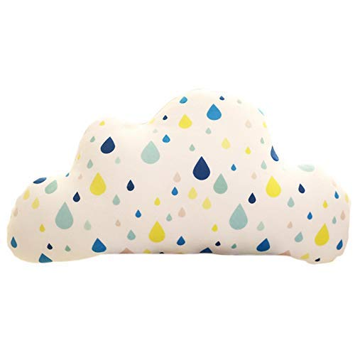 HYCy Cute Cloud Cushion Cartoon Cojín de Asiento de Conductor de Coche Suave y cómodo Cojín de Silla Cojín de Juguete Sala de Estar Almohada Cojín Decoración de la habitación