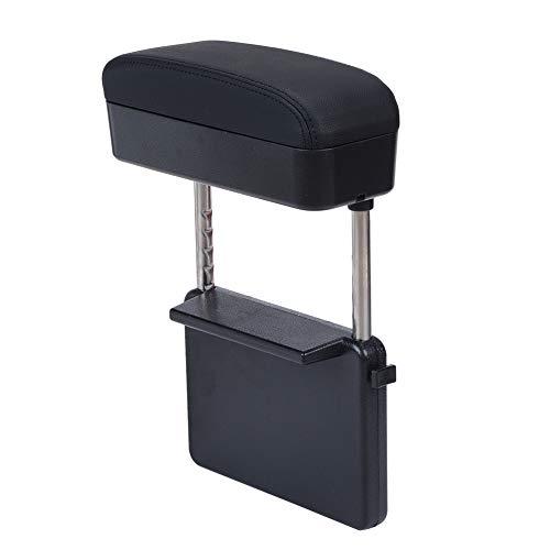 ATMOMO Car Seat Gap Filler PU Leather Car Seat Pockets Car Center Console Organizer Multi-Function Armrest Storage (Black)
