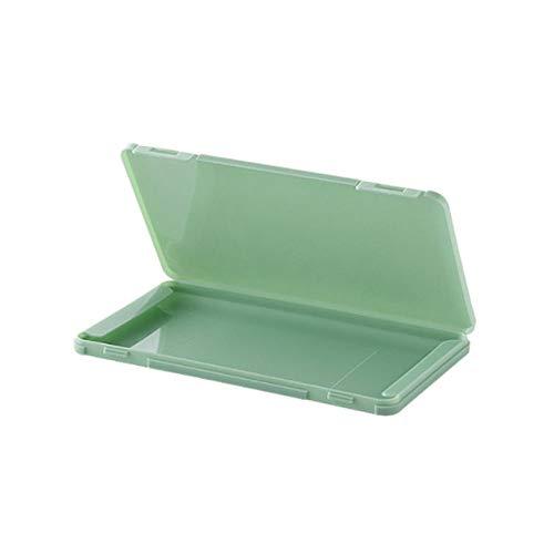 YIEBAI Estuche portátil para latas reutilizadas Estuche de Almacenamiento para el hogar Caja de Silicona Organizador de contenedores de Almacenamiento a Prueba de Polvo Soporte para Exteriores,Green