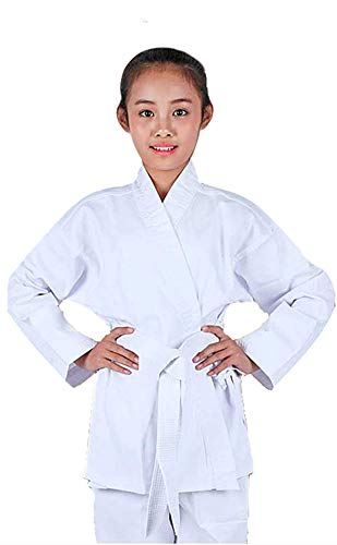 NAMAZU Karate Uniform for Kids and Adult, Lightweight Karate Gi Student Uniform with Belt for Martial Arts Training - White Size 0