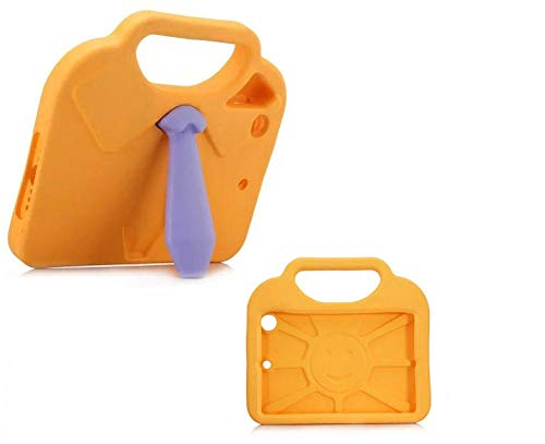 Case For iPad mini 1/2/3/4 3D Necktie Design EVA Foam Shockproof Hand-held Stand Kids Tablet Cover For iPad mini4-Orange
