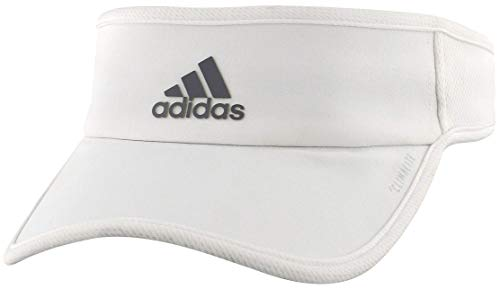 adidas Women's Superlite Performance Visor, White/Light Onix, ONE SIZE