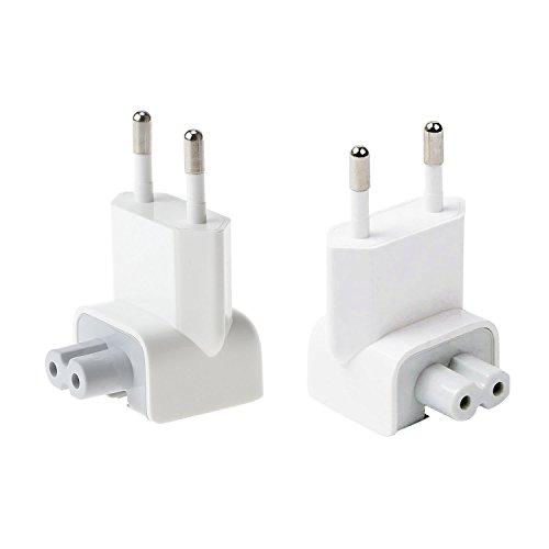 Beyee AC Adapter Plug Convertisseur de chargeur de voyage, Connecteur de rechange pour tablettes iPod, iPhone, iPad, adaptateur secteur Macbook (2xEU Plug)