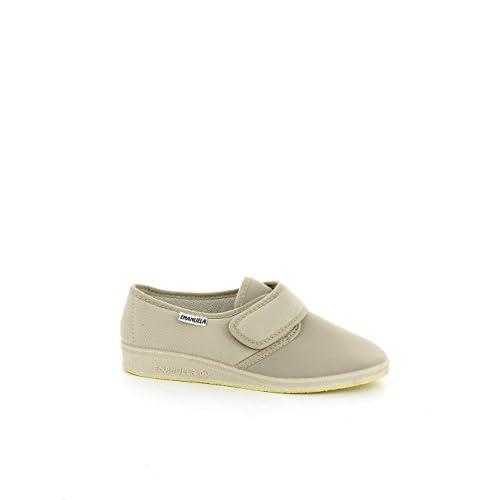 EMANUELA 655 Beige Pantofole Donna Made in Italy Zeppa 3 cm Lavabili in Lavatrice 30 Gradi Tomaia con Strappo Elasticizzata Beige 35