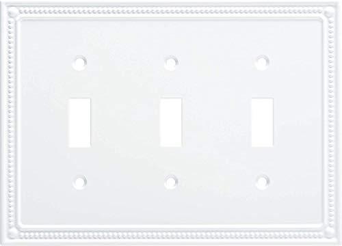 Franklin Brass W35058-PW-C Classic Beaded Single Switch, White