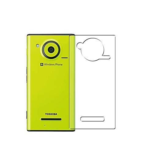 VacFun 2 Piezas Protector de pantalla Posterior, compatible con Fujitsu Toshiba Windows Phone IS12T au, Película de Trasera de TPU