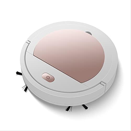 El robot aspirador dura 90 minutos y la altura es de solo 7,0 cm. Adecuado para pelos de animales, alfombras y suelos duros. Aspirador híbrido con función de limpieza, 32 x 32 x 7 cm, color rosa.