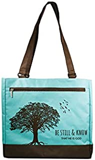 Tote-Be Still and Know -Turq/Blk