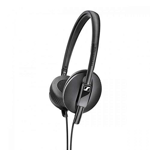 Sennheiser HD 100 - Auriculares supraurales, Ligeros y Plegables, Color Negro, Único