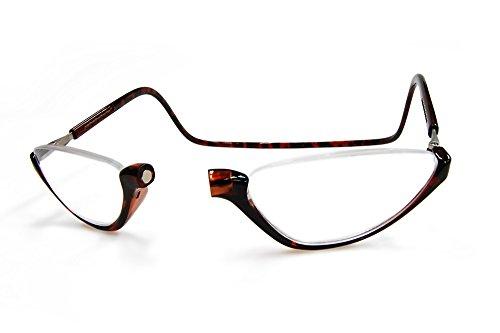 クリックソノマ クリックリーダー老眼鏡・リーディンググラス クリックショップオリジナル (ブラウン, 2.50)
