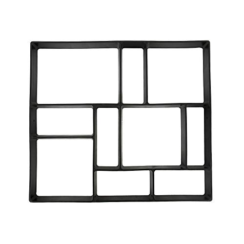 Molde para pavimentos de jardín de plástico con molde, diseño de campos (B)