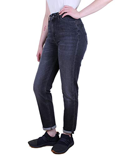 Lee Dames Jeans Mom - Straight Relaxed Fit - Zwart - Zwart Raw